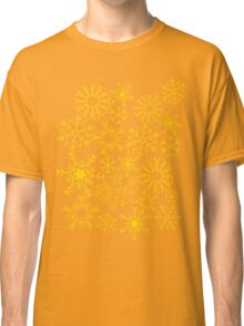 Gold and black snowflakes Classic T-Shirt