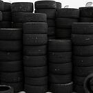 wall of tyres by Perggals© - Stacey Turner