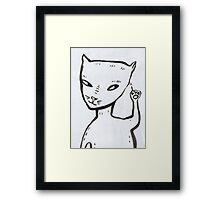 Smart cat Framed Print