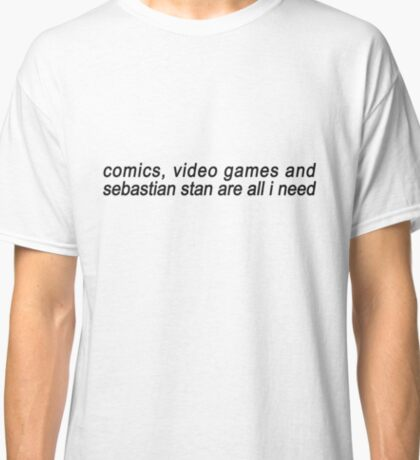 Comics, Videos Games, Sebastian Stan. Classic T-Shirt