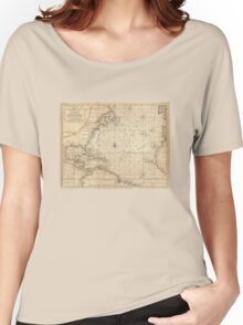 Map Of North America - 1683 Women's Relaxed Fit T-Shirt