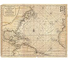 Map Of North America - 1683 Photographic Print