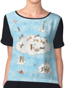 All Dogs Go To Heaven Chiffon Top
