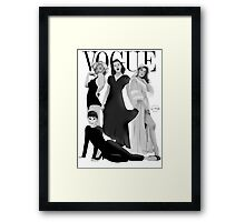 """VOGUE"" Marilyn Monroe, Judy Garland, Audrey Hepburn & Elizabeth Montgomery Framed Print"