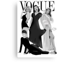 """VOGUE"" Marilyn Monroe, Judy Garland, Audrey Hepburn & Elizabeth Montgomery Canvas Print"