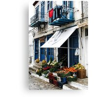 Village Produce Market - Island of Aegina,  Greece Canvas Print