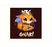 GNAR chibi - League of Legends Art Print