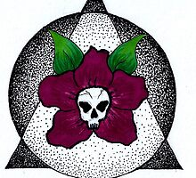 skull, flower dot work by Perggals© - Stacey Turner