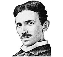 Tesla - Portrait Photographic Print