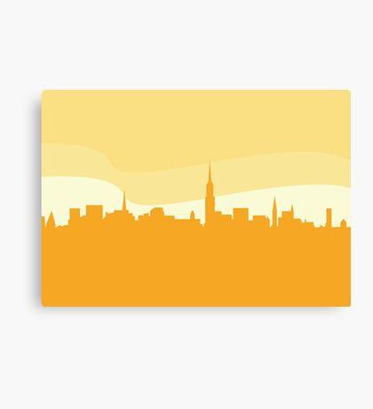 Vector city silhouette. New York city silhouette.Vector Illustration. Canvas Print