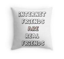 internet friends 2 Throw Pillow