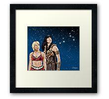 Xena and Gabrielle Stargaze Framed Print