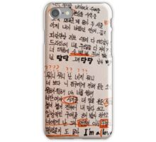 BTS LYRICS - DANGER iPhone Case/Skin
