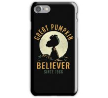 Great Pumpkin Believer Shirt iPhone Case/Skin