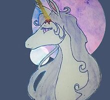 Painting Of The Last Unicorn.  by MissDucklette