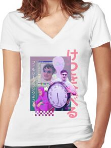 Filthy Frank  Women's Fitted V-Neck T-Shirt