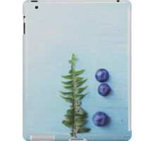 Blueberries and Fern Frond iPad Case/Skin