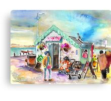Icecream Shop In Ireland Canvas Print
