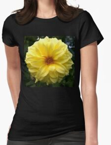 .Yellow Dahlia. Womens Fitted T-Shirt