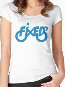 Fixedlife Fixie Design Women's Fitted Scoop T-Shirt