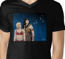 Xena and Gabrielle Stargaze Mens V-Neck T-Shirt