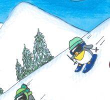 Penguins Skiing  Sticker