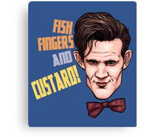 Fishfingers and Custard Canvas Print