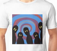 Spooks and Swirl Blue Unisex T-Shirt