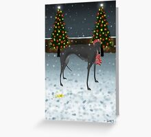 Yellow Snow Greeting Card