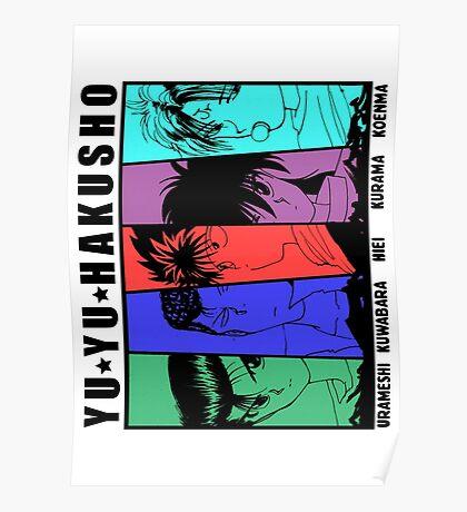 Yu Yu Hakusho - Urameshi, Kuwabara, Hiei, Kurama, Koenma Poster