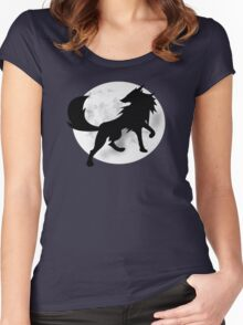 Wolf Silhouette Women's Fitted Scoop T-Shirt