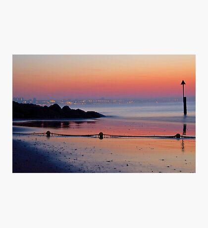 Summer Sunrise across Sandbanks Beach  Photographic Print