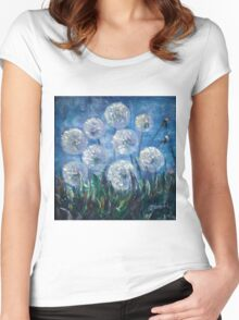 Dandelion Abstract by Lena Owens Women's Fitted Scoop T-Shirt