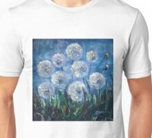 Dandelion Abstract by Lena Owens Unisex T-Shirt