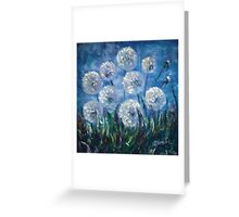 Dandelion Abstract by Lena Owens Greeting Card