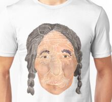 Face of a Nomad - White Unisex T-Shirt