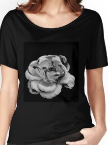 Rose in black and white Women's Relaxed Fit T-Shirt