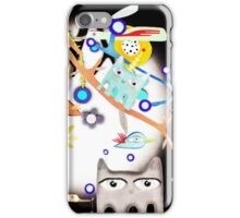 Birds Night Cats and Moon Light iPhone Case/Skin