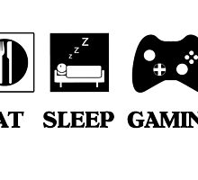 Eat Sleep Gaming by Mike Paget