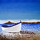 Donegal Dingy (acrylic on canvas) by LeMaxBleu