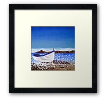 Donegal Dingy (acrylic on canvas) Framed Print
