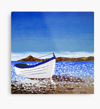 Donegal Dingy (acrylic on canvas) Metal Print