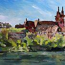 Rhine River Basel Switzerland by TerrillWelch