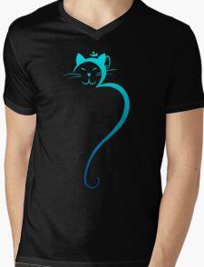 Om Kitty - Turquoise Mens V-Neck T-Shirt