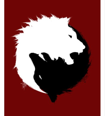The Wolf and The Lion Sticker