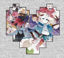 Undertale Heart One Piece - Long Sleeve