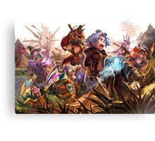Ezreal & Team / League Of Legends Canvas Print