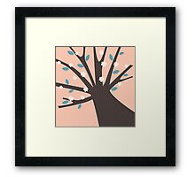 Spring tree with blossom flowers Framed Print