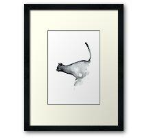 Blue Cat Gray Cat Navy Kids Wall Art Framed Print
