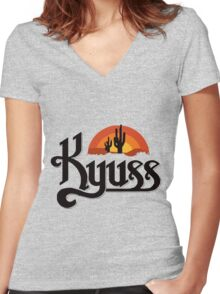 Kyuss Band Women's Fitted V-Neck T-Shirt